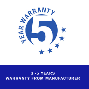 3-5 years international warranty from manufacturer
